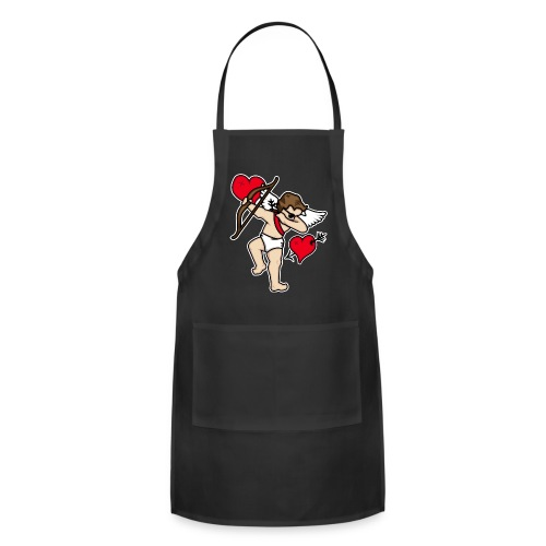 Dabbing Cupid For Valentines Day Gift T shirts - Adjustable Apron