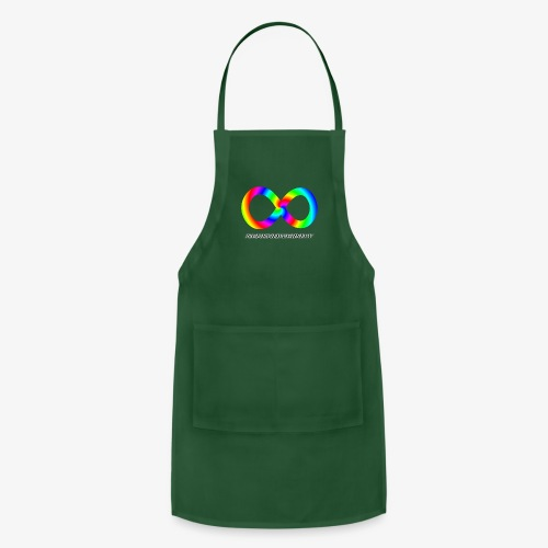 Neurodiversity with Rainbow swirl - Adjustable Apron