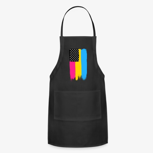 Pansexual Pride Stars and Stripes - Adjustable Apron