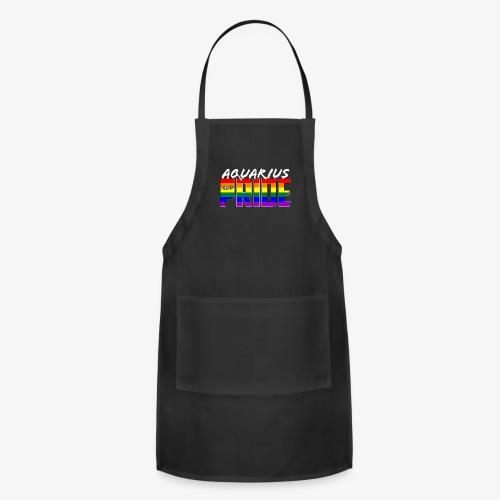 LGBT Aquarius Pride Flag Zodiac Sign - Adjustable Apron