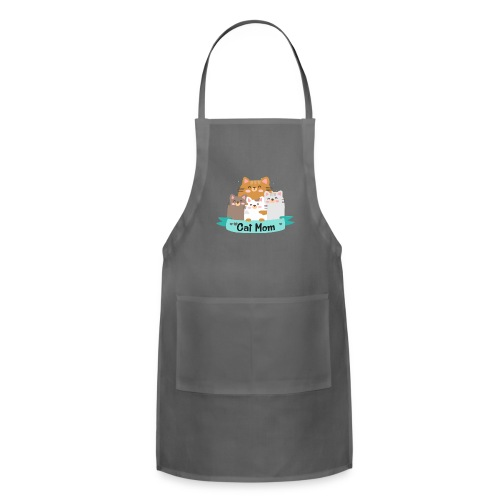 Cat MOM, Cat Mother, Cat Mum, Mother's Day - Adjustable Apron