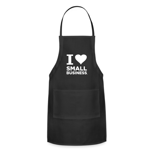 I Heart Small Business Logo (All White) - Adjustable Apron
