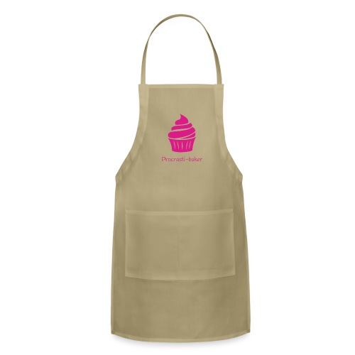 Procrasti-baker - pink - Adjustable Apron