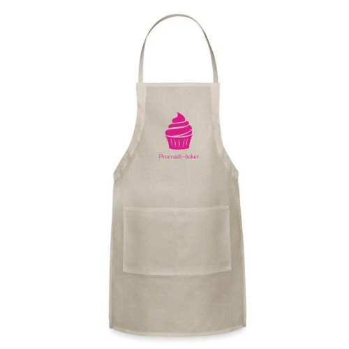 Procrasti-baker - pink - Adjustable Apron