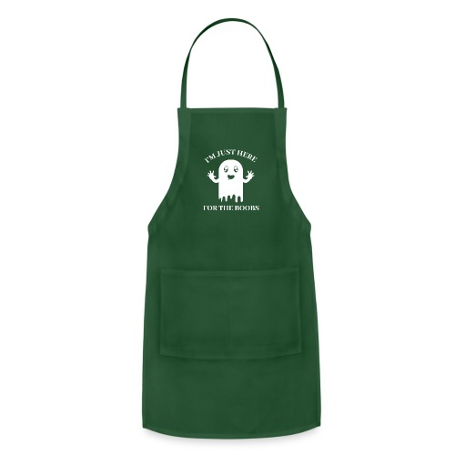 Halloween Im Just Here For The Boobs - Adjustable Apron