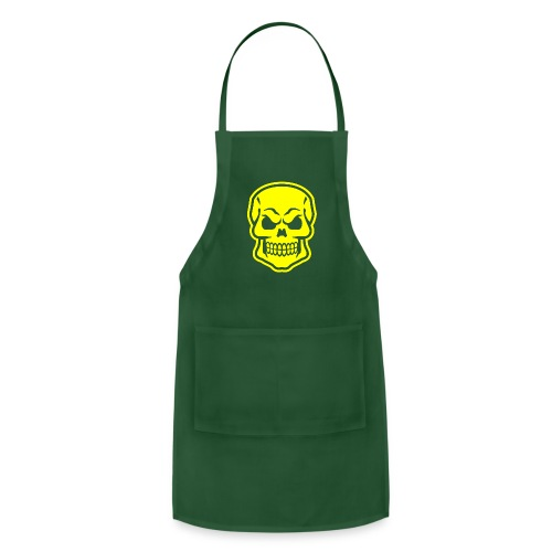 Skull vector yellow - Adjustable Apron
