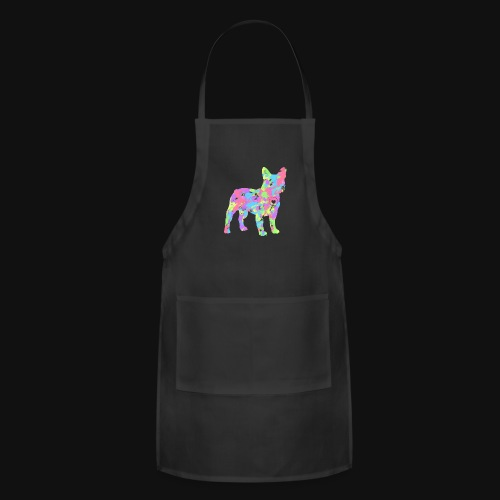 Frenchie love splatter - Adjustable Apron