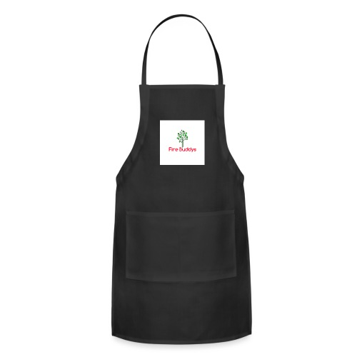 Fire Buddys Website Logo White Tee-shirt eco - Adjustable Apron