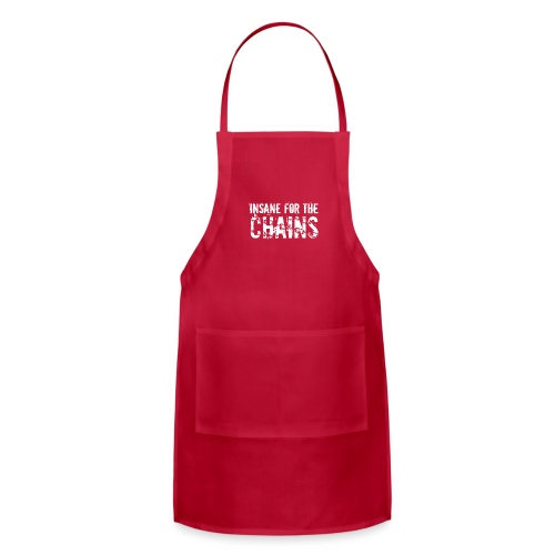 Insane for the Chains White Print - Adjustable Apron
