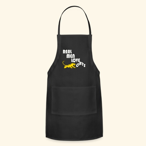 Real Men Love Cats T-Shirt for cat people tee - Adjustable Apron