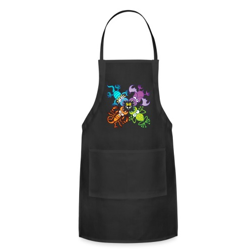 Bat, lizard, scorpion and frog stalking a poor fly - Adjustable Apron