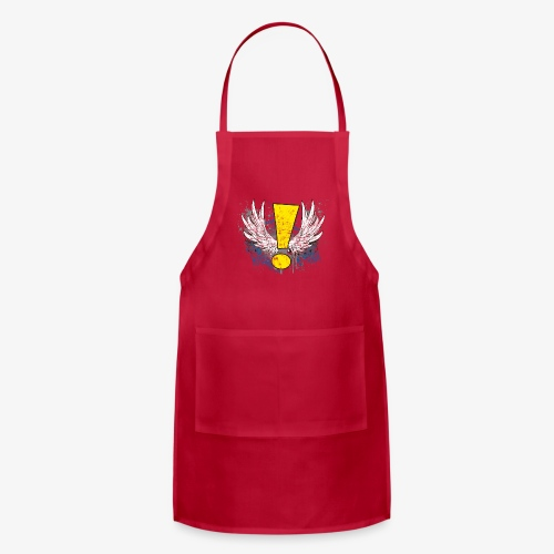 Winged Whee! Exclamation Point - Adjustable Apron