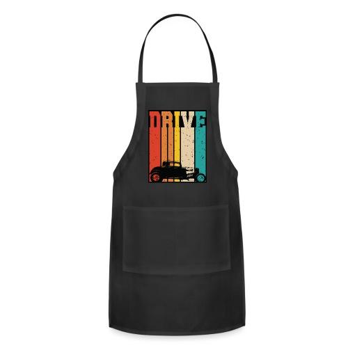 Drive Retro Hot Rod Car Lovers Illustration - Adjustable Apron