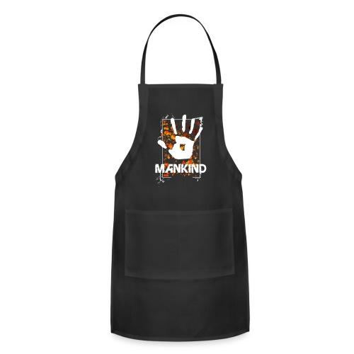 Mankind splatter design hand - Adjustable Apron
