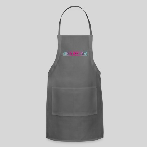 ALIENS WITH WIGS - Logo - Adjustable Apron