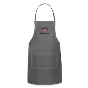 Girlfriend Snipes Better T-Shirt. Retro Gaming - Adjustable Apron