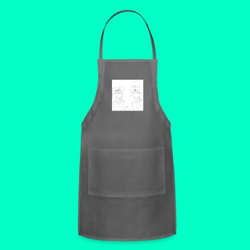 Cute couple - Adjustable Apron
