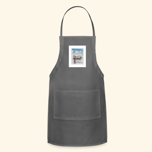 Anna in the Flower Bed - Adjustable Apron
