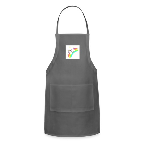 tumblr static sparkly unicorn no tag - Adjustable Apron