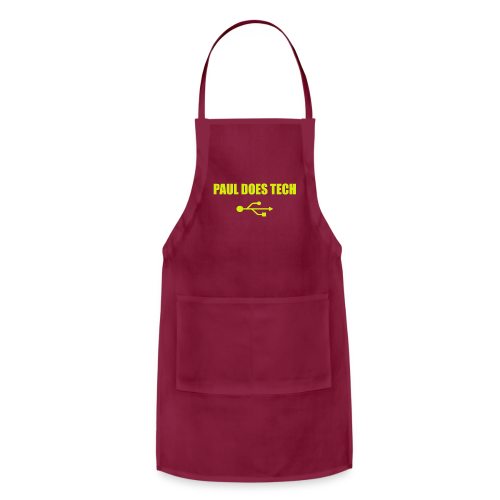 Paul Does Tech Yellow Logo With USB (MERCH) - Adjustable Apron