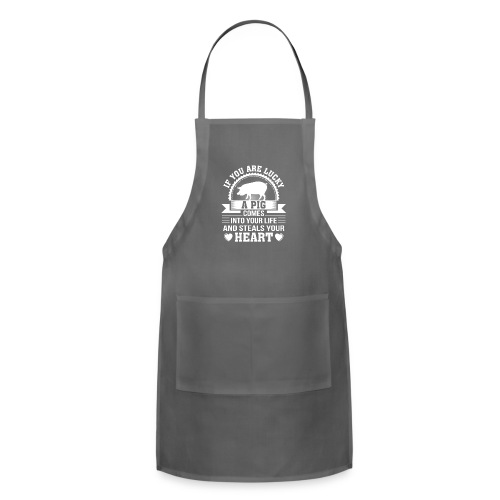 Mini Pig Comes Your Life Steals Heart - Adjustable Apron