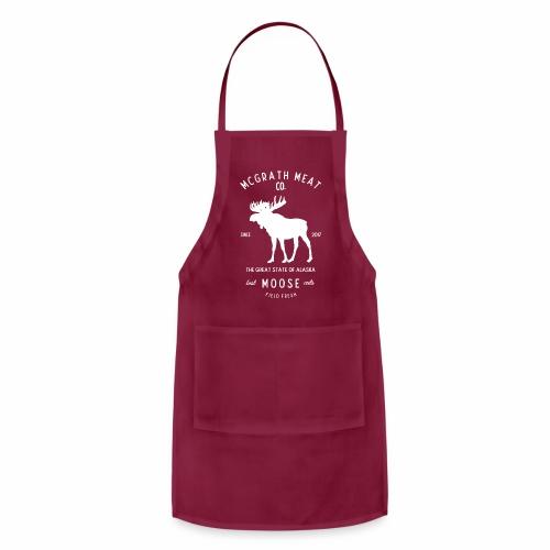 McGrath Meat Company White Stamp Logo - Adjustable Apron