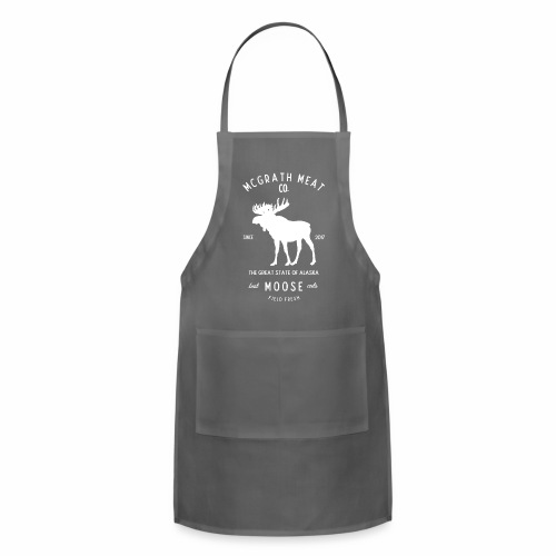 McGrath Meat Company White Stamp Logo - Adjustable Apron