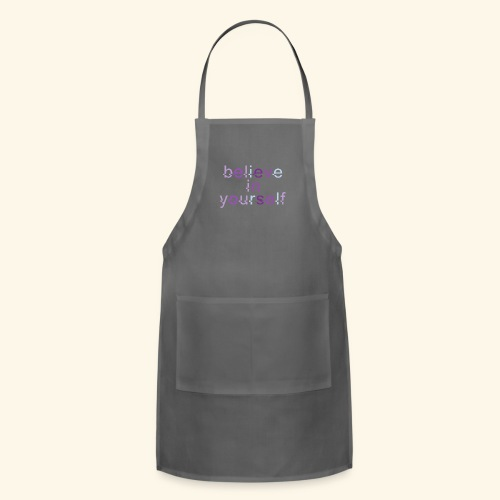 BELIEVE IN YOURSELF M PURPLE #4 - Adjustable Apron