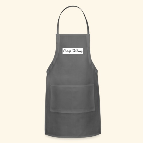 Cursive Black and White Hoodie - Adjustable Apron