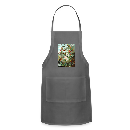 Exotic Bird Scene Vintage Print Colorful - Adjustable Apron