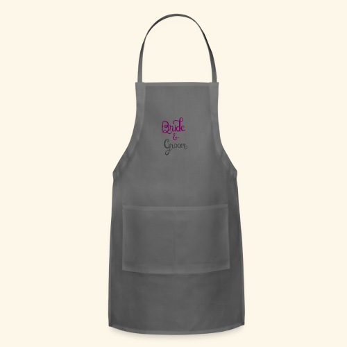 bride and groom - Adjustable Apron
