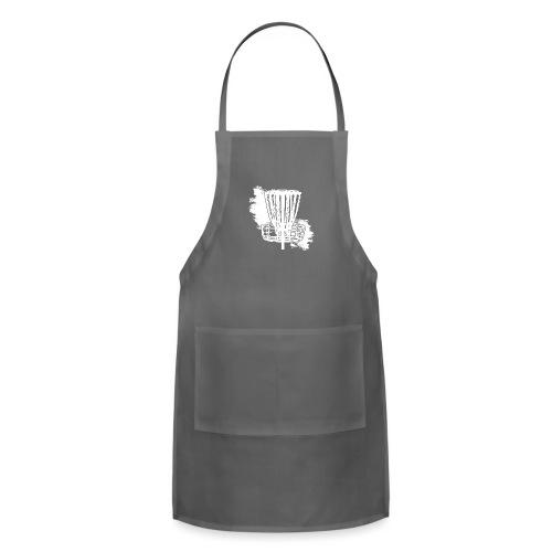 Disc Golf Basket White Print - Adjustable Apron