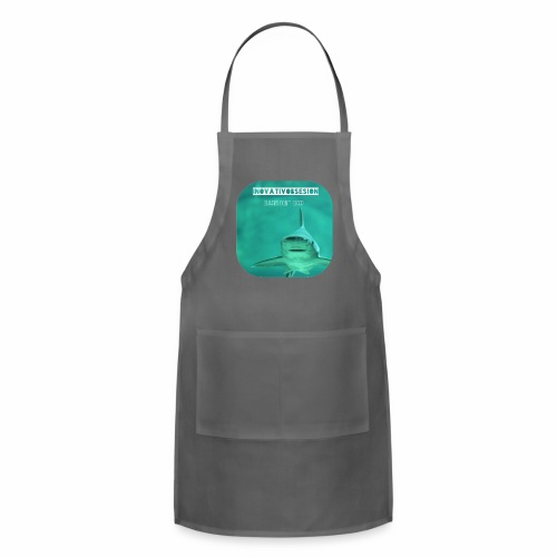 "InovativObsesion ""SHARKS DON'T SLEEP"" apparel - Adjustable Apron"