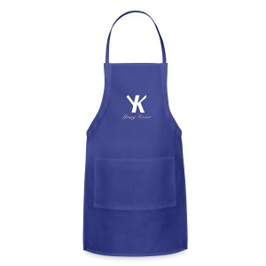 Young Kevino Official Logo (White) - Adjustable Apron