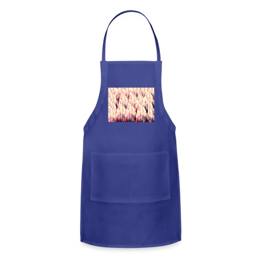 Pink Australian flora with red edges - Adjustable Apron