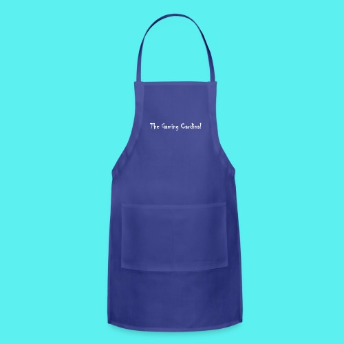 white logo text - Adjustable Apron