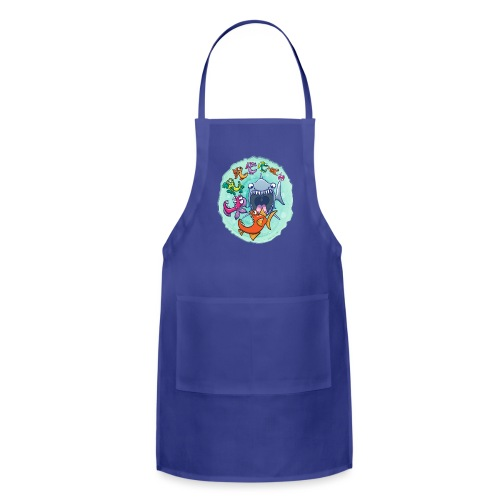 Big fish eat little fish and vice versa - Adjustable Apron