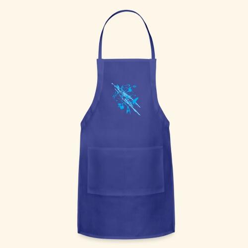 Blue Splash - Adjustable Apron