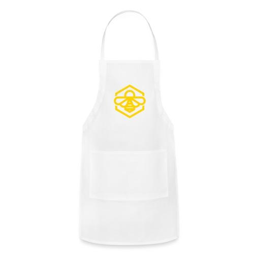 bee symbol orange - Adjustable Apron