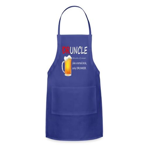 Druncle Beer T shirt Gift For Men - Adjustable Apron
