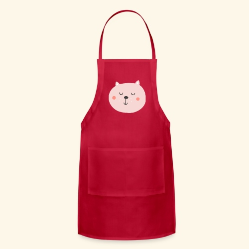 Cute Pink cat - Adjustable Apron