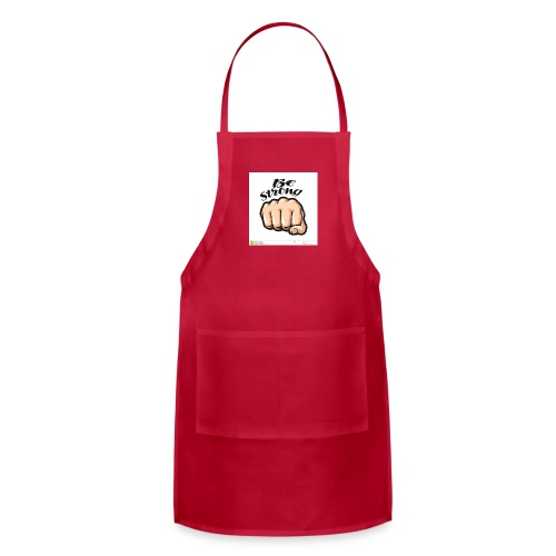 fist cartoon symbol be strong lettering vector ill - Adjustable Apron
