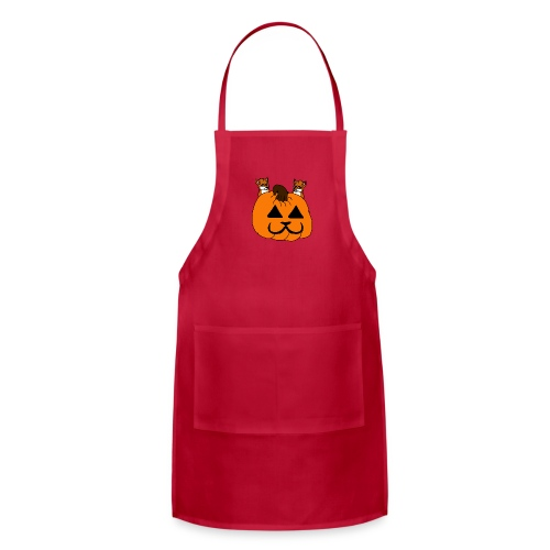 foxes with pumpkin - Adjustable Apron