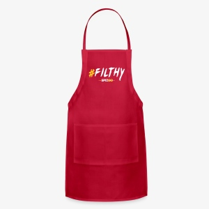 #Filthy white - Spizoo Hashtags - Adjustable Apron