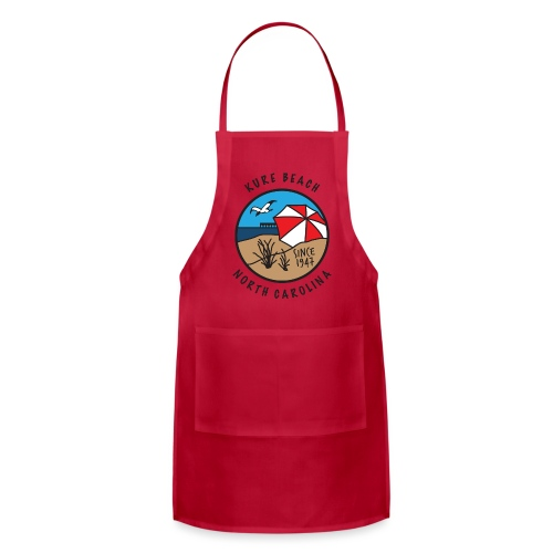 Kure Beach Day-Black Lettering-Front Only - Adjustable Apron