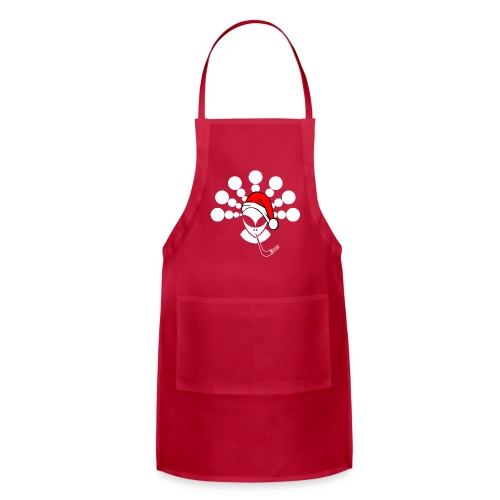 Christmas Alien White - Adjustable Apron