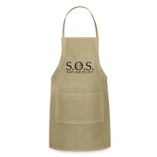 SOS Black on Black - Adjustable Apron