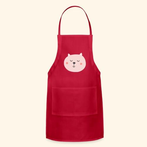 Cute Pink cat - Adjustable Apron