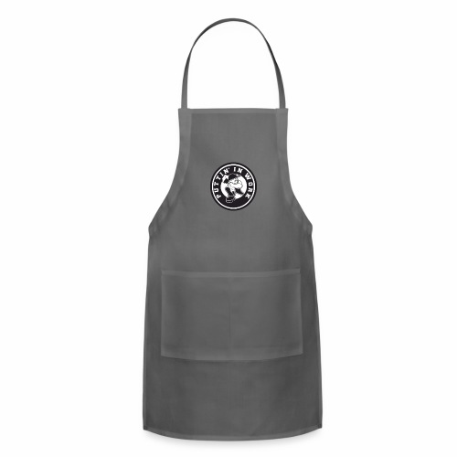 Solid Puttin' In Work Logo - Adjustable Apron