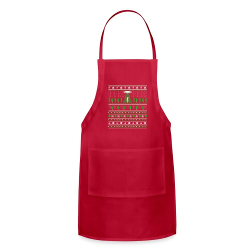 UFO ALIEN UGLY Christmas - Adjustable Apron